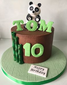Panda Chocolate Ganache Birthday Cake for a 10yr old.