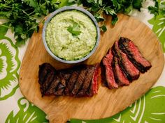 Guasacaca Recipe from Jeff Mauro on the Food Network Sauce Recipes, Beef Recipes, Cooking Recipes, Healthy Recipes, Recipies, Food Network Recipes, Food Processor Recipes, The Kitchen Food Network, Avocado