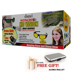 Darvi Wonder 3 HD sunglasses Combo - Buy Darvi 3 HD sunglasses Combo Of Night Vision sunglasses, Black & Transparent Sunglasses from Teleone at Best Price In India. Details @ http://www.teleone.in/darvi-wonder-3HD-glasses-combo.html