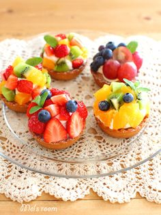 Fruits tart Small Desserts, Mini Desserts, Sweets Recipes, Cooking Recipes, Cupcakes, Cupcake Cakes, Kreative Desserts, Sweet Tarts, Pastry Cake