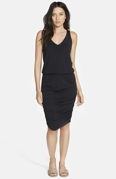 Stem Ruched Racerback Tank Dress available at #Nordstrom