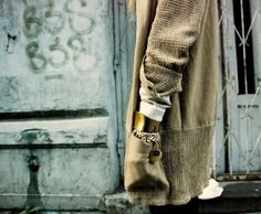 cotton knit + twill jacket