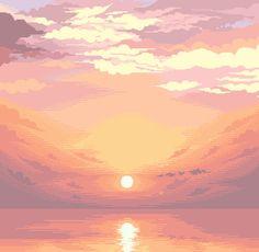 [OC][CC] Sunset, 16 colors : PixelArt