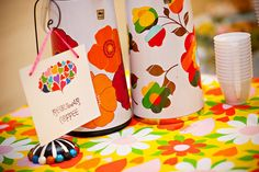 Speaking of milk, what about drinks? I love these funky coffee thermoses from Lucy and Travis' wedding. Photo by Jessica Watson Photography -   For the coffee addicts by lucylu-wedding, via Flickr - Offbeat Bride