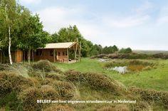 Safaritent met hottub aan het strand in Nederland