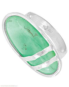 Freshen up your look with this #minty #Ring. #Chrysoprase, #Sterling #Silver. #Silpada #Jewelry