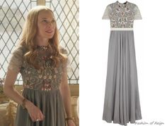 In the fifteenth episode Greer wears this sold out Biyan Isobel Embellished Tulle and Satin Gown.