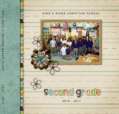 HM 2nd Grade Yearbook  8x8 Storybook  Template ID: 56433