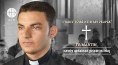 El fin de semana pasado 7 sacerdotes fueron ordenados en Irak, entre ellos el joven de 26 años Martin Baani, que en agosto de 2014 arriesgó su vida para salvar el Santísimo Sacramento de la iglesia de su pueblo y así evitar que sea profanado por el Estado Islámico (ISIS).