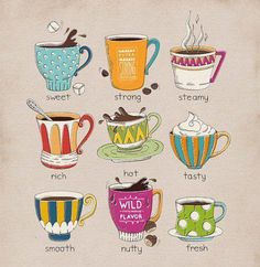 Hot, chocolate, colorful, delicious