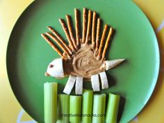 Peanut Butter Dipping Fun with a friendly porcupine!
