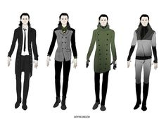 Loki inspired outfits From http://batwynn.tumblr.com/post/105284347582/playing-with-loki-outfits