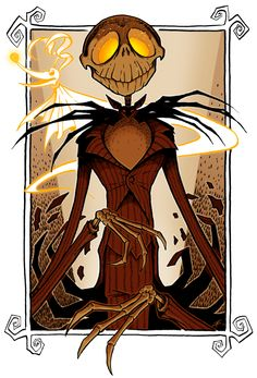 After surrendering myself to the holiday spirit, I managed to squeeze in a few Nightmare Before Christmas fanarts before H day. For the Grand Finale, here's of course the Pumpkin King him...