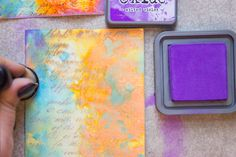 Working with Distress Oxide Inks from Heather Tracy for The Graphics Fairy
