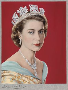 Queen Elizabeth II, by Dorothy Wilding, © William Hustler and Georgina Hustler/ National Portrait Gallery, London Happy 60 years, Your Majesty! God Save the Queen! Princesa Real, Princesa Kate, Windsor, Reine Art, Princesa Margaret, God Save The Queen, Prinz Philip, Queen Art, Elizabeth Ii
