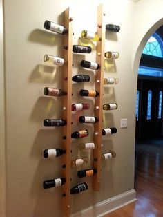 Finished Rack 5degree hole to hold in wine bottles