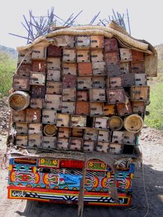 Yemen ~ bee hives en-route.