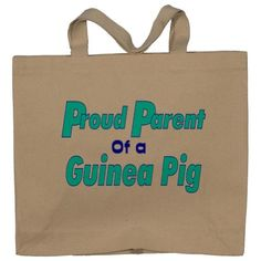 Proud Parent of a Guinea Pig Totebag (Cotton Tote / Bag)
