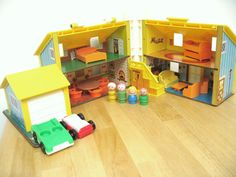 Vintage Fisher Price House  Complete by toysofthepast on Etsy, $65.00