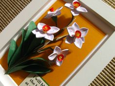 Quilled daffodils (on a 10x15 cm frame)