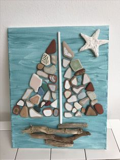 E-mail - herlinda traen - Outlook Sea Glass Crafts, Sea Crafts, Sea Glass Art, Driftwood Projects, Driftwood Art, Seashell Art, Seashell Crafts, Stone Crafts, Rock Crafts