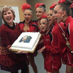 The Apple moms whoop it up, while Abby glares forward through squinted eyes. Cathy gleefully whips out a cake with a gaping trout picture of an Abby head on it, and the group parades down to the ALDC dressing room to present the snarky treat. Abby doesn't buy into the nonsense and... Come on! Let's hear your thoughts, snarks and please read more at: http://allaboutthetea.com/2015/04/01/dance-moms-recap-s5e13/
