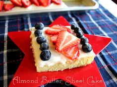 Patriotic Almond Sheet Cake
