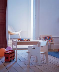 carl hansen table and chair: every child needs their own crafting table.