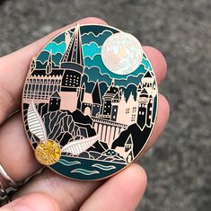 Laserbrain Patch Co - Shop/Product Bijoux Harry Potter, Harry Potter Pin, Backpack With Pins, Logos Retro, Pin Art, Badge Design, Cool Pins, Pin And Patches, Hard Enamel Pin