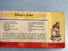 "Another recipe from a Nestle's chocolate recipe packet (1960""s ?) From Moms recipe box"