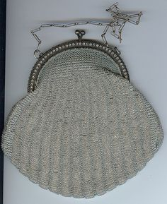 silver bag with rhinestones and pearls