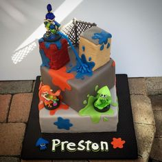 Splatoon cake! Preston, 5th birthday!