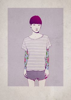 tumblr_mot2q0ZLAU1qgaxjko1_500 : Illustration : LES BEAUTeS TATOUEES D'ADAMS CARVALHO