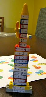 Lego Tower Math Game