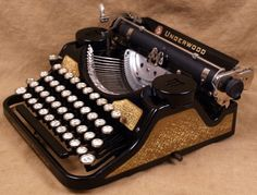 Underwood Four Bank Black and Gold!
