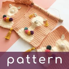 Yeeeey, the pattern is finally out and available for my alpaca/llama wall hangi. : Yeeeey, the pattern is finally out and available for my alpaca/llama wall hanging 🎉🧡🎊 I'm addicted to crocheting them, let's be one too… Crochet Cactus, Crochet Bunny, Crochet Beanie, Cute Crochet, Crochet Motif, Crochet Yarn, Diy Crochet Wall Hanging, Crochet Wall Hangings, Llamas