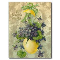 Vintage Peaceful Easter Postcard