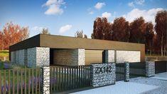 Zx142 - Parterowy dom jednorodzinny z garażem dwustanowiskowym i tarasem.