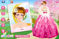 Wedding Makeover, Games For Girls, Online Games, Cinderella, Disney Princess, My Love, Stylish, Disney Characters, Link