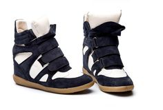 Isabel Marant Sneakers Bekker High-top Suede Bleu Marine