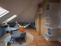 Ático de estilo nórdico para los niños - DecoPeques Kids Bedroom, Bedroom Decor, Design Girl, Girl Nursery, Corner Desk, Children, Interior, Furniture, Child Room