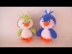 Uccellino Uncinetto - Amigurumi Tutorial - Bird Crochet - Pajarito - YouTube