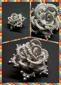 Tatting lace 3d rose