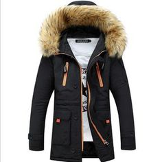 Mens Winter Jackets And Coats  More Mens Fashion to Keep Warm  Leisure Plus-size Hooded  Parka Men Winter Winter Jacket Men