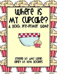 Place cards in a pocket chart with the cupcake behind a bowl. Have students pick a card by identifying the word on the card. Play continues until the cupcake card is found. A blank set of cards has been included to use your own words or to change the game to fit another standard.