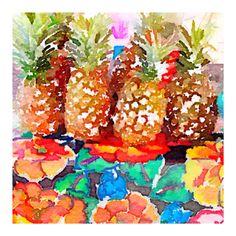 Pineapples in Sayulita, Mexico  by Anna Kosturova