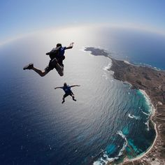 So today is day 2 of skydiving on Rotto! Yep the views are just as great as yesterday. From 15000ft we can see WAs awesome coastline Fremantle Perth city skyline and #Rotto waaaaaaaay below. #lovemyrotto #rottnestisland by skydive.geronimo http://ift.tt/1L5GqLp