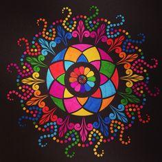 Laatste Kaleido Color met stabilo pen 68 gekleurd!