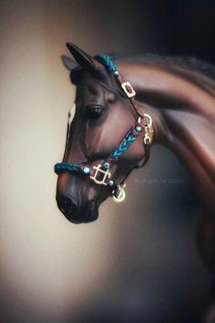 Breyer Horse Peter stone Marx  custom 7 halters one bridle