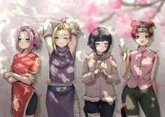 Sakura,Ino, Hinata e Tenten Naruto Kakashi, Anime Naruto, Naruto Cute, Naruto Shippuden Sasuke, Naruto Girls, Otaku Anime, Manga Anime, Sakura And Sasuke, Naruto Wallpaper